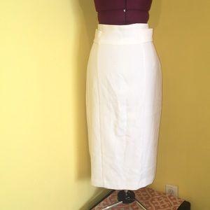 New & Co White Skirt
